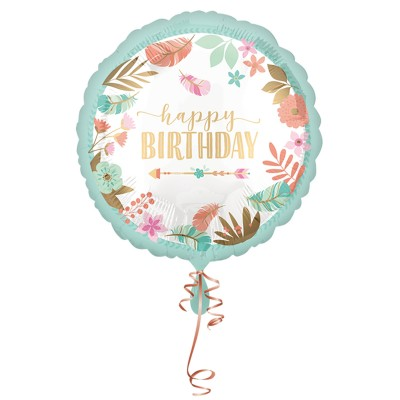 "Folienballon Boho ""Happy Birthday"" Girl 